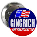 Gingrich for President Buttons & Magnets