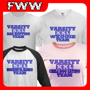 Funny Varisty Spoof T-shirt, Apparel & Gift Design