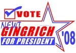 Newt Gingrich for President '08 T-shirts & Gifts