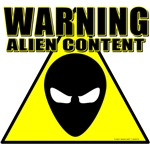 Warning: Alien Content T-shirts & Gifts