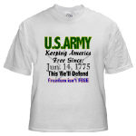 US ARMY Freedom Isn't Free Clothing, Ts, & Gear