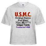 USMC Freedom Isn't Free Clothing/Apparel/T-shirts