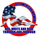 All American Woman T-shirts & Gifts