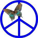 Peace Symbol & Butterfly