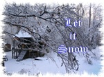 Let it Snow - Log Cabin