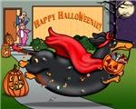Happy Halloweenie (black and tan)