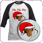 Christmas Bulldog T-Shirts and Gifts