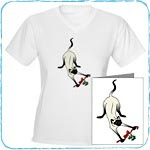 Mistletoe Christmas Siamese Cat T-Shirts