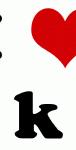 I Love k