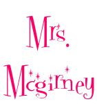 Mrs. Mcgirney