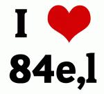 I Love 84e,l