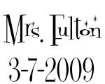 Mrs. Fulton 3-7-2009