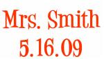 Mrs. Smith 5.16.09