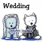 Westie Bride & Groom