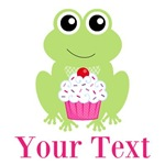 Personalizable Frog with Cupcake