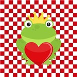 Frog Prince on Red & White