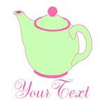 Personalized Pink & Green Teapot