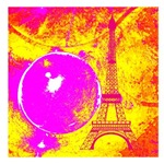 Pink Orange Eiffel Tower Abstract