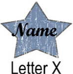 Blue Star names - Letter X