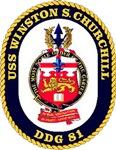 USS Winston S. Churchill DDG 81 US Navy Ship