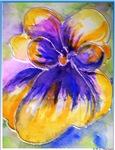 Pansy, flower art