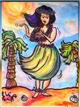 Hula girl, Hawaii art