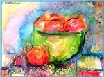 Fruit, colorful, art,