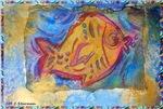 Fish! Fun, colorful, primitive art!