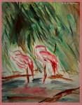 Flamingo! wildlife art!