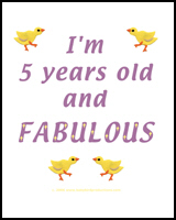 I'M 5 YEARS OLD AND FABULOUS TEES