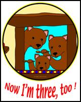 THE THREE BEARS ON TEES