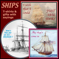 SHIPS ON T-SHIRTS WITH WORDS