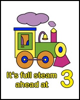 FULL STEAM AHEAD AT 3 YEARS OLD