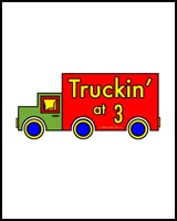 TRUCKS ON TEES FOR 3 YEARS OLDS