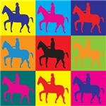 Horse Riding Pop Art