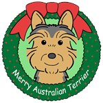 Australian Terrier Christmas Ornaments