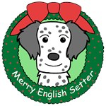 English Setter Christmas Ornaments