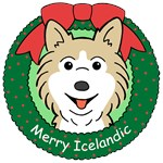 Icelandic Sheepdog Christmas Ornaments