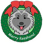 Keeshond Christmas Ornaments