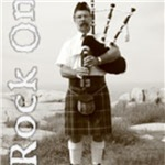 Bagpipes Rock On Long Sleeves