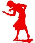 Nancy Drew Red Silhouette