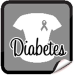 Diabetes Grey Ribbon Awareness Shirts & Gifts
