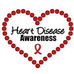 Heart Disease Awareness (Hearts) T-Shirts & Gifts
