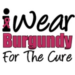 I Wear Burgundy For The Cure T-Shirts & Gifts