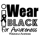 I Wear Black Ribbon For Awareness T-Shirts