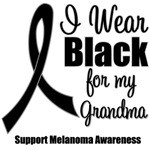 I Wear Black Ribbon (Grandma) Melanoma T-Shirts