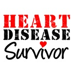 Heart Disease Survivor Grunge T-Shirts & Gifts
