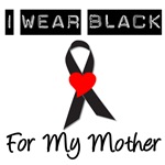 I Wear Black Ribbon For My Mother T-Shirts