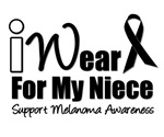 I Wear Black Ribbon For My Niece T-Shirts & Gifts