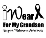 I Wear Black Ribbon For My Grandson T-Shirts & Gif